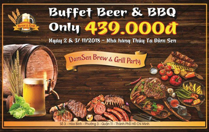 lễ hội buffet beer & BBQ 2018 nhà hàng Thủy Tạ Đầm Sen Phuthotourist